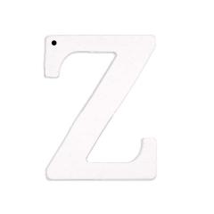 Ξύλινο γράμμα Ζ λευκό 6εκ