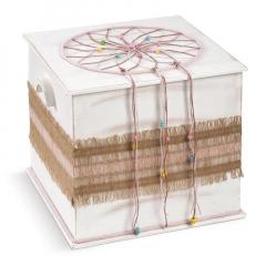 Κουτί βάπτισης ξύλινο με θέμα ονειροπαγίδα
