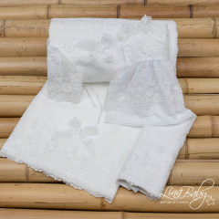 Λαδόπανο βαμβακερό για κορίτσι French Lace