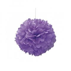 Διακοσμητική μπάλα Puff σε μωβ χρώμα