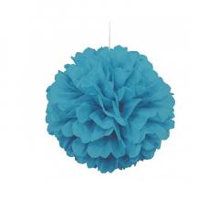 Διακοσμητική μπάλα Puff σε τυρκουάζ χρώμα