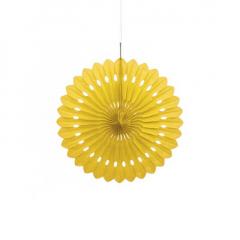Διακοσμητική βεντάλια σε κίτρινο χρώμα