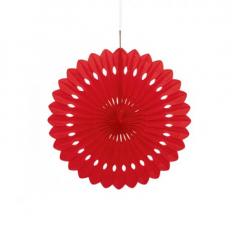 Διακοσμητική βεντάλια σε κόκκινο χρώμα