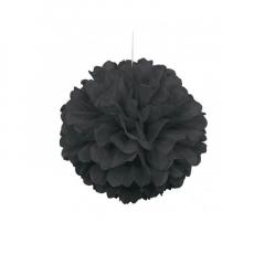 Διακοσμητική μπάλα Puff σε μαύρο χρώμα