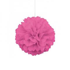 Διακοσμητική μπάλα Puff σε φούξια χρώμα