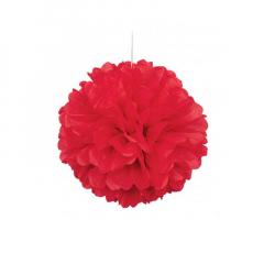 Διακοσμητική μπάλα Puff σε κόκκινο χρώμα