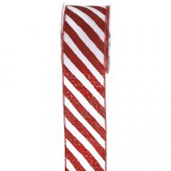 Χριστουγεννιάτικη κορδέλα Red Snow Lollipop 6.7εκ.x9.1μ.
