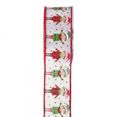 Χριστουγεννιάτικη κορδέλα Happy Elves 5.5εκ.x9μ.