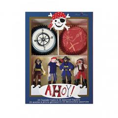 Cupcake kit με θέμα Πειρατής Ahoy Meri Meri