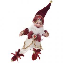 Χριστουγεννιάτικο μπορντό βελούδινο ξωτικό elf 40εκ.