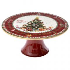 Χριστουγεννιάτικο πλαστικό cake stand με δέντρο 22εκ.