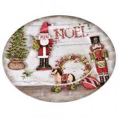 Χριστουγεννιάτικο πλαστικό πιάτο Noel 33εκ.