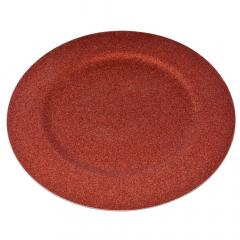 Χριστουγεννιάτικο πλαστικό πιάτο κόκκινο με glitter