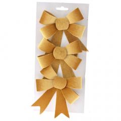 Χρυσοί βελούδινοι διακοσμητικοί φιόγκοι 28x14εκ.