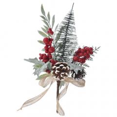 Χριστουγεννιάτικο διακοσμητικό γκι δέντρο και κουκουνάρια 50εκ.