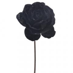 Διακοσμητικό τριαντάφυλλο μαύρο κλαδί 60εκ.