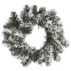 Χριστουγεννιάτικο διακοσμητικό χιονισμένο στεφάνι 40εκ.