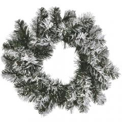 Χριστουγεννιάτικο διακοσμητικό χιονισμένο στεφάνι 50εκ.