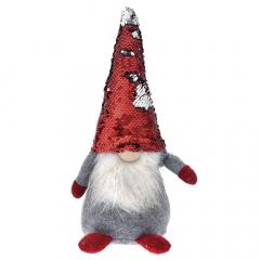 Χριστουγεννιάτικος νάνος άνδρας γκρι κόκκινος 35εκ.