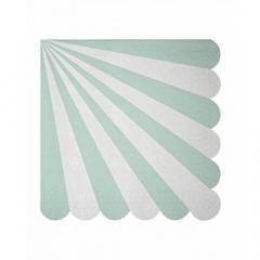 Χαρτοπετσέτα ριγέ Meri Meri Aqua stripes