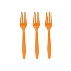 Πιρουνάκια πλαστικά πορτοκαλί 16τεμ