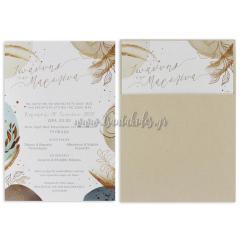 Προσκλητήριο γάμου με abstract στοιχεία Tsantakides