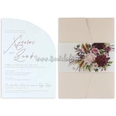 Προσκλητήριο γάμου με minimal σχεδιασμό Tsantakides