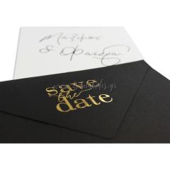 Προσκλητήριο γάμου με φάκελο Save the Date Tsantakides