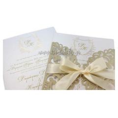 Προσκλητήριο γάμου laser cut Tsantakides