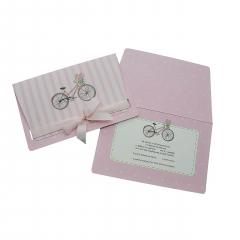Προσκλητήρια Βάπτισης MyMastoras® – Pink Bike