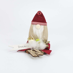 Χριστουγεννιάτικο ξύλινο διακοσμητικό Άγιος Βασίλης με ευχή