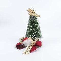Χριστουγεννιάτικο έλατο με κόκκινο φιόγκο και ευχή