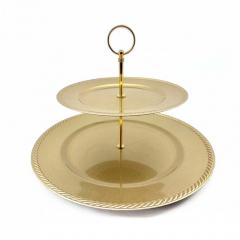 Διπλός δίσκος τουρτιέρα χρυσή 35x35εκ