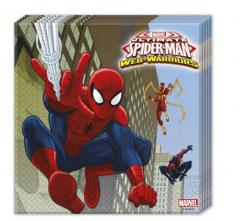 Χαρτοπετσέτες φαγητού 33εκ. Spider-Man 20τεμ.