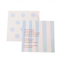 Προσκλητήρια Βάπτισης MyMastoras® – Blue Dots N Stripes
