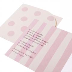 Προσκλητήρια Βάπτισης MyMastoras® – Pink Dots N Stripes