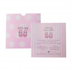 Προσκλητήρια Βάπτισης MyMastoras® – Little Lady Shoes