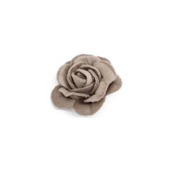 Λουλούδι βελούδινο καφέ 3εκ 9τεμ