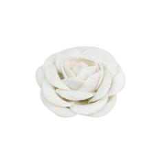 Λουλούδι βελούδινο λευκό  3εκ 9τεμ