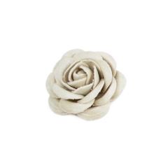 Λουλούδι βελούδινο ιβουάρ 3εκ 9τεμ
