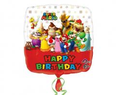 Μπαλόνι φοιλ τετράγωνο Super Mario 43εκ.