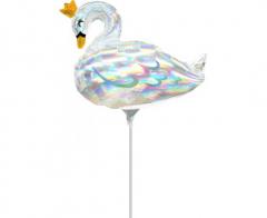 Μπαλόνι Φοιλ Μίνι Κύκνος Iridescent Swan 35.5εκ.