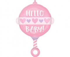 Μπαλόνι Φοιλ ροζ Baby Girl Rattle 43x60εκ.