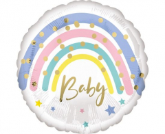 Μπαλόνι Φοιλ Pastel Rainbow Baby 43εκ.