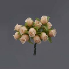 Λουλουδάκι διακοσμητικό εκρού 1τμχ/12 άνθη
