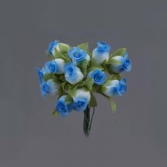 Λουλουδάκι διακοσμητικό γαλάζιο 1τμχ/12 άνθη