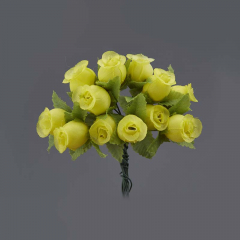 Λουλουδάκι διακοσμητικό κίτρινο 1τμχ/12 άνθη