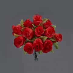 Λουλουδάκι διακοσμητικό κόκκινο 1τμχ/12 άνθη