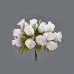 Λουλουδάκι διακοσμητικό λευκό 1τμχ/12 άνθη