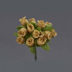 Λουλουδάκι διακοσμητικό μπεζ 1τμχ/12 άνθη